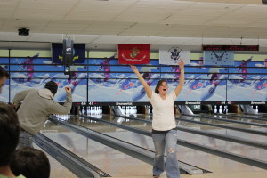 Bowlers celebrated success on the lanes.