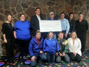 Chill-N-Bowl committee presented a check to Special Olympics for $2,403.